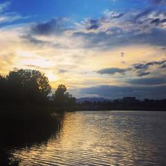 Finally got to do a bit of #fishing #denver #colorado #lake at #sunset #berkeleylake