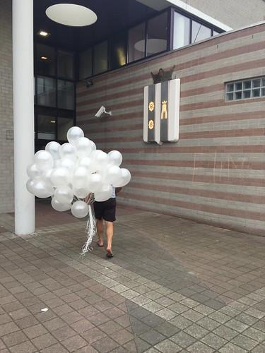 Heliumballonnen Metallic Wit Gemeentehuis Rozenburg