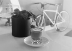 r.e. ~ posted a photo:	A perfect cafe cortado at this beautiful coffee bar by the great people of House Roots Coffee.16155 San Fernando Mission Blvd, Granada Hills, CA 91344