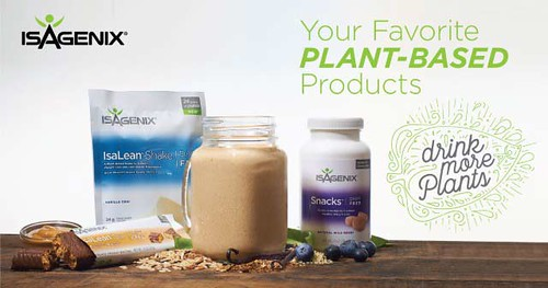 IsaGenix Plant Based Products for Vegetarians, Vegans and Lactose Intolerant