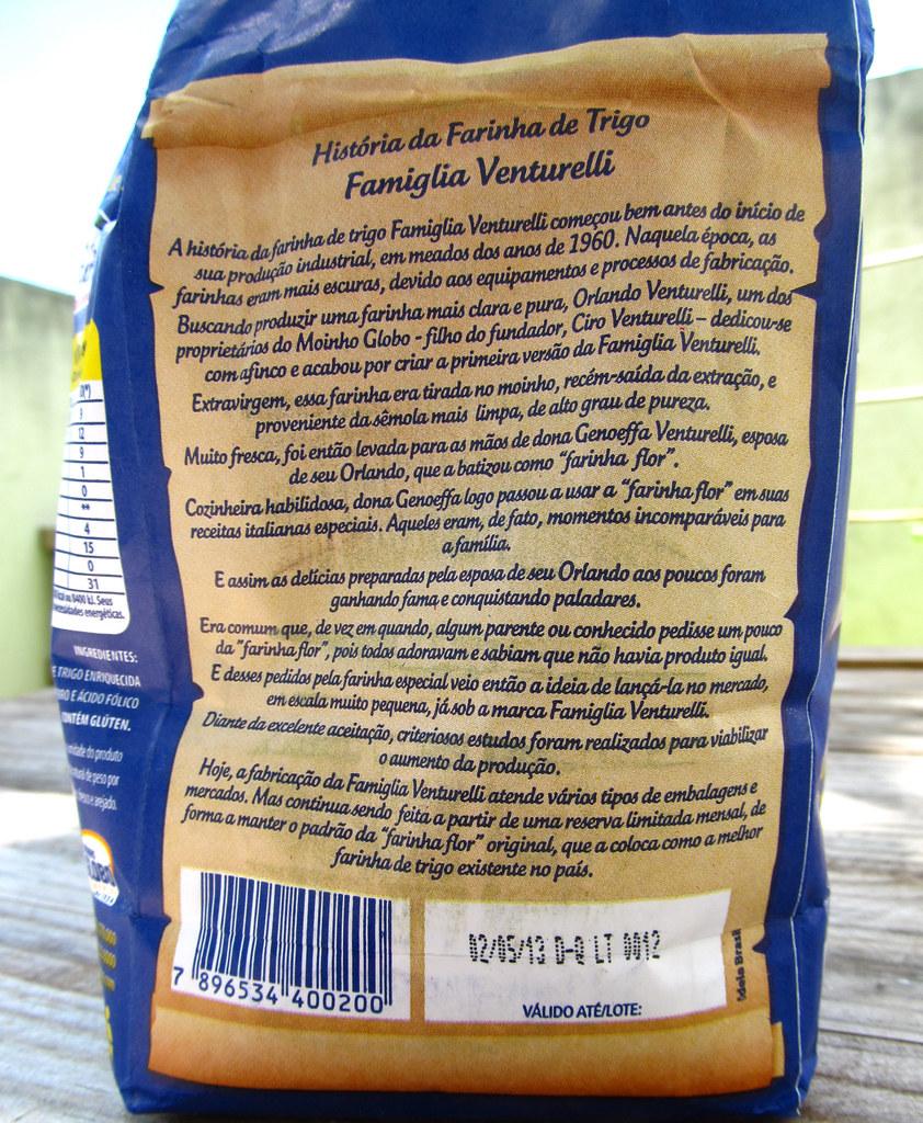 Farinha de trigo Famiglia Venturelli