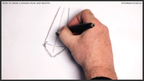 learn how to draw a human nose and mouth 003