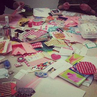 Mail art workshop aftermath.