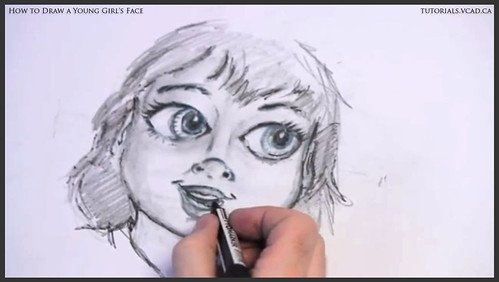 learn how to draw a young girls face 023