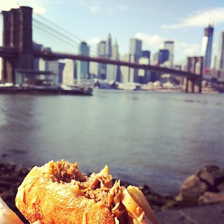 Pulled pork sammich with a view.