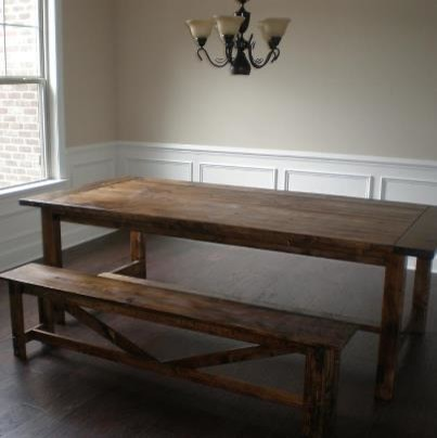 Farmhouse Dining Table And Rustic Farmhouse Bench Flickr Photo