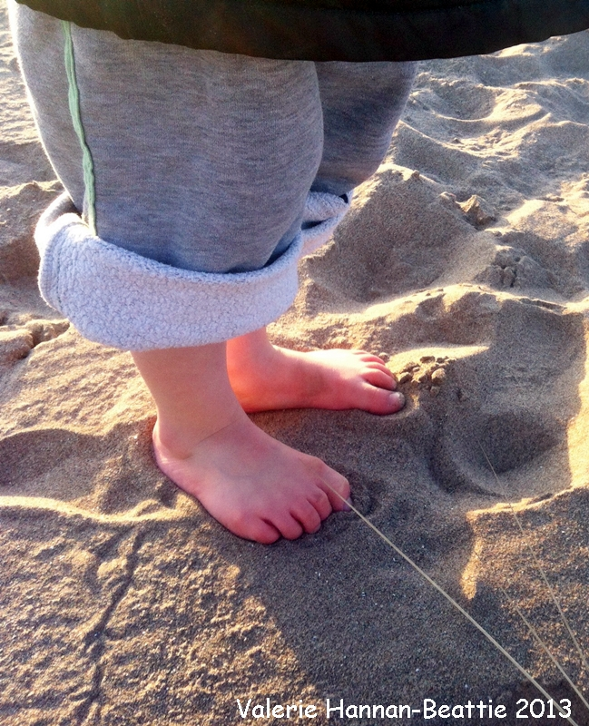 bare feet sand