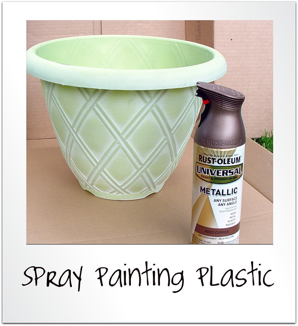 spray painting plastic