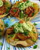 Thumbnail image for Avocado Crema over Shrimp Tostadas with Voskos Greek Yogurt