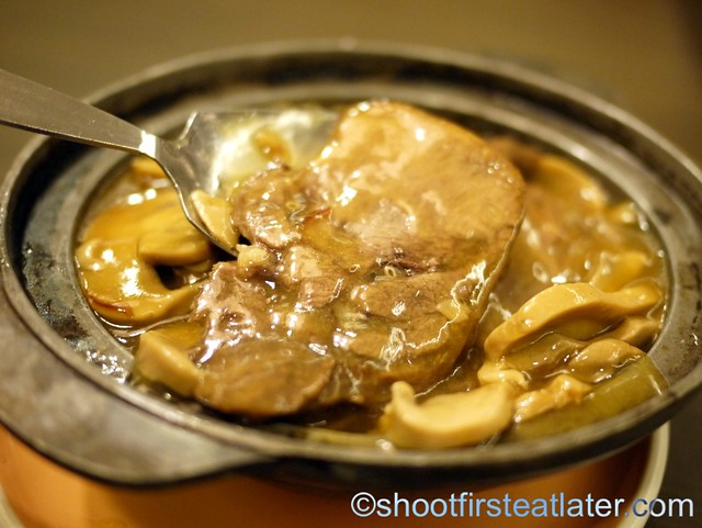 ox tongue with mushroom sauce P248