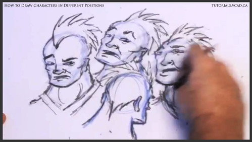 learn how to draw characters in different positions 025