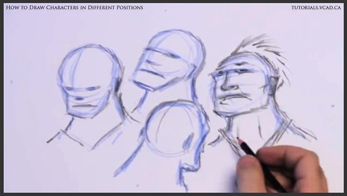 learn how to draw characters in different positions 014