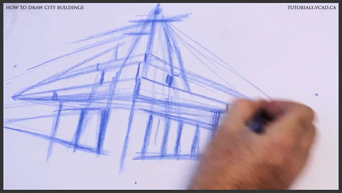 learn how to draw city buildings 009