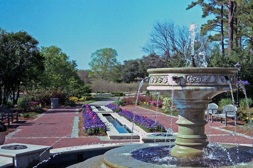 Fountain at the Sarah Lee Baker Perennial Garden by bahayla