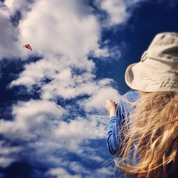 Kite-flying WIN! (Shortly after this, a big gust of wind snapped the kite snapped off the string and it blew away into the city, never to be seen again!) || #winorfail #kiteflying