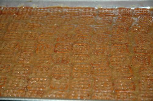 Caramel Chocolate Pretzel Bark