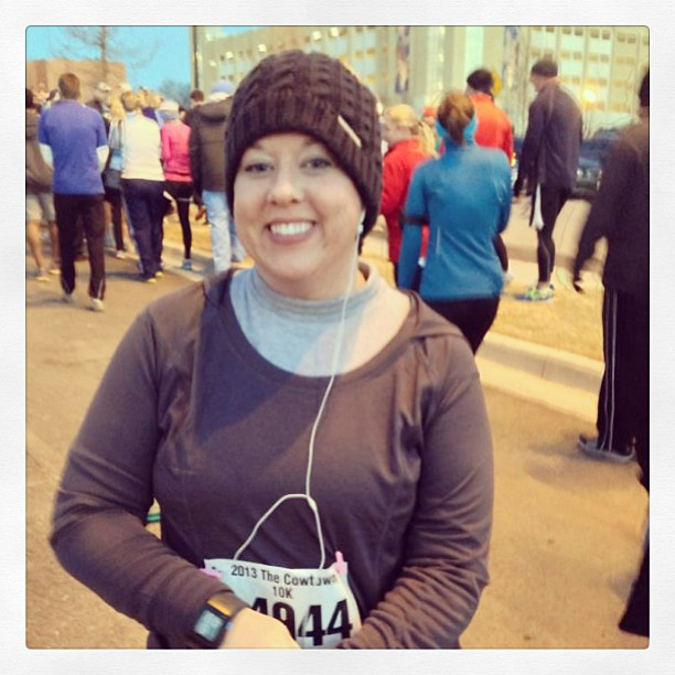 The 7 am start was ffffffreezing!  The good... my legs felt great. The bad... my lungs haven't recovered from being so sick.  I finished and I'm proud that I stuck with it and didn't quit.  Obligatory medal pic to follow...