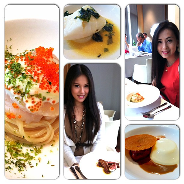 Lunching with my pretty Gf in Sage. #finedining #lunch #sage #gardens #midvalley #food #foodcoma #foodporn #foodspotting #scallop #dessert #sinful #sweet #sweettooth #seafood #cod #foiegras #duck #pasta #maincourse #entree #appetizer