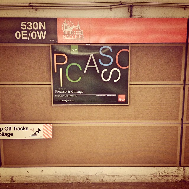 The CTA ad for the Picasso show at the Art Institute of Chicago