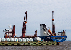 freight transport(0.0), bulk carrier(0.0), jackup rig(0.0), offshore drilling(0.0), construction equipment(0.0), semi-submersible(0.0), container ship(0.0), tugboat(0.0), port(1.0), crane vessel (floating)(1.0), vehicle(1.0), transport(1.0), ship(1.0), sea(1.0), dredging(1.0), floating production storage and offloading(1.0), watercraft(1.0),