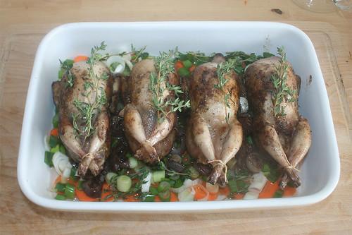 36 - Wachteln & Thymian einlegen / Add quails & thyme