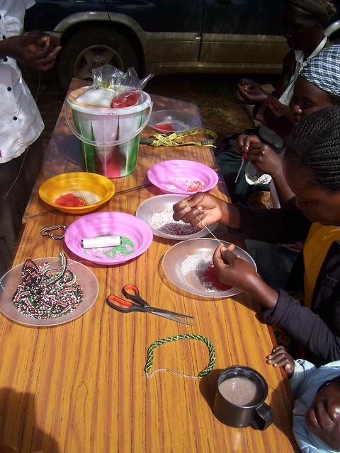 Bead Making Group at Eldoret