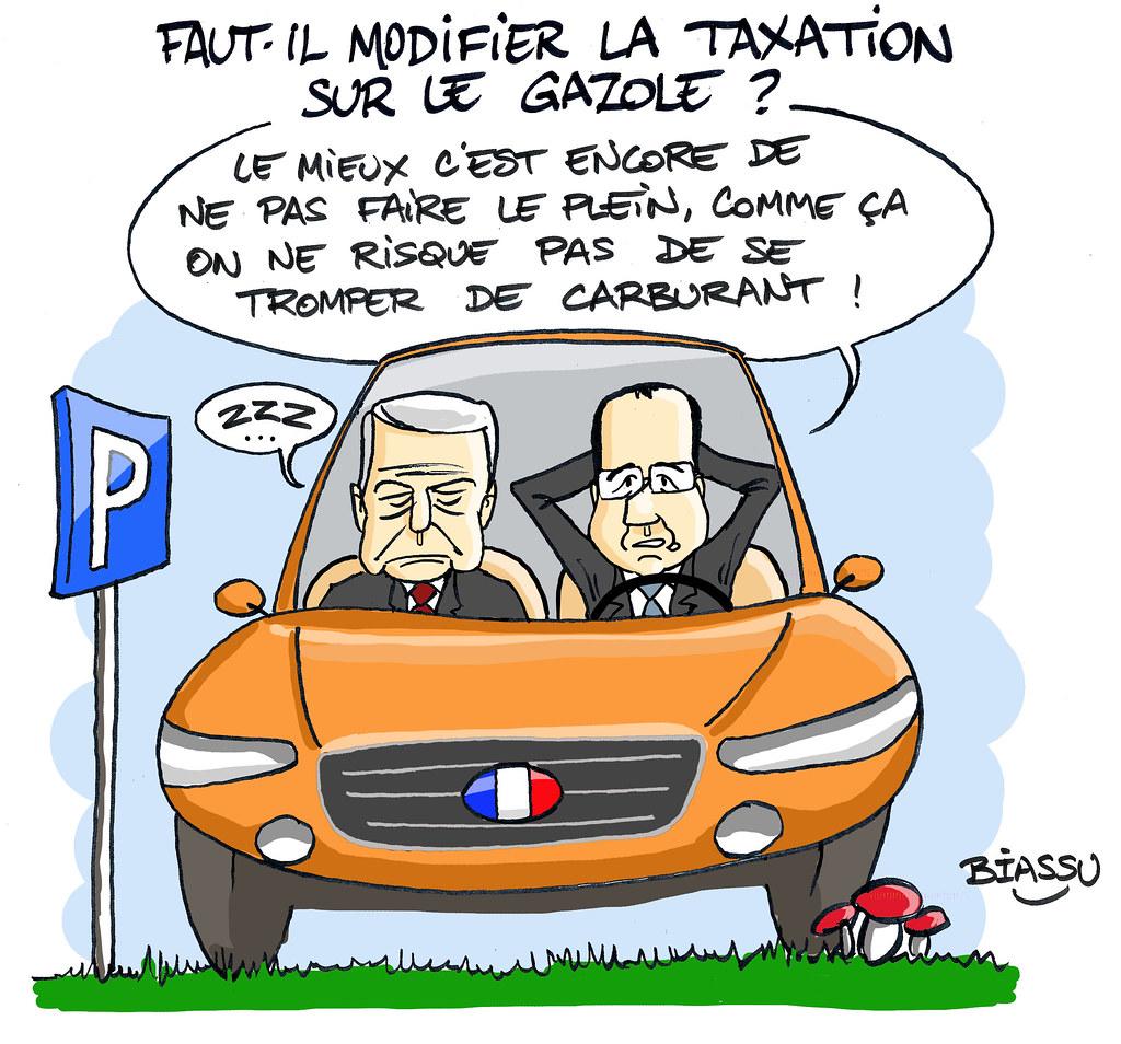 Biassu+humour+Hollande+Ayrault+taxation+diesel