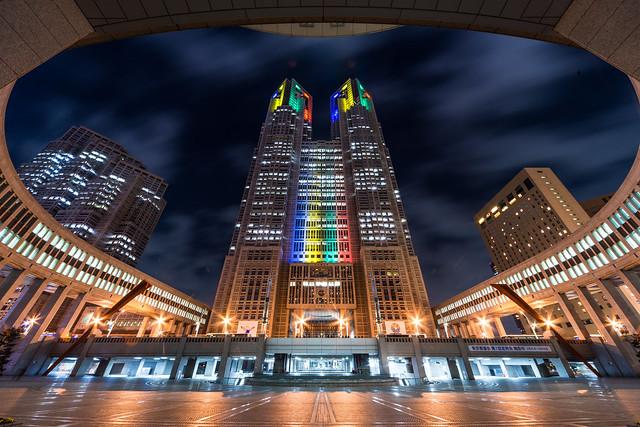 東京都庁 特別ライトアップ