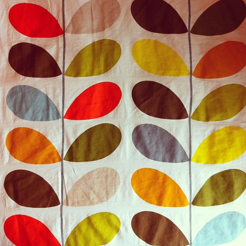 Orla Kiely duvet cover in LB's bedroom. Love all the colors.