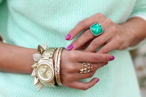 Turquoise & Gold Watch