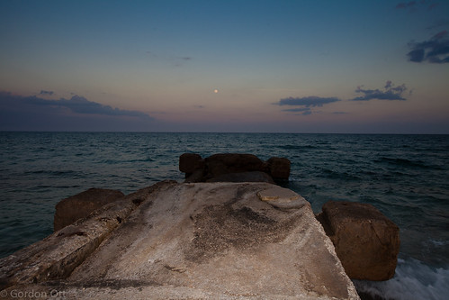 moon water pier florida ruin atlanticocean