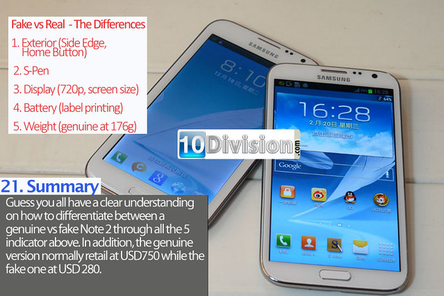 21 Samsung Galaxy Note 2 (GT-N7100) - Clone vs Original Ultimate Comparison