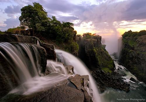sunrise zimbabwe victoriafalls nikkorlenses devilscataract nikfilters nikond800 paulbruinsphotography