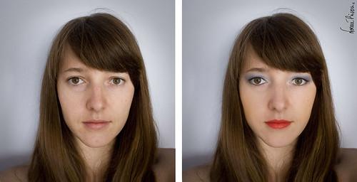 Maquillaje digital. Antes y después