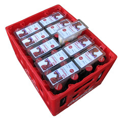 Kit Yamoyos in a Coca-Cola crate