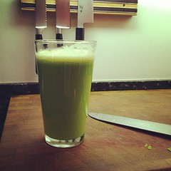 Apple, fennel, cucumber, lemon juice is pretty fabulous!