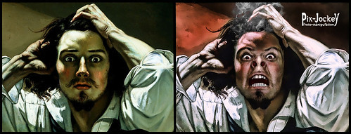 Renaissance angry BEFORE and AFTER