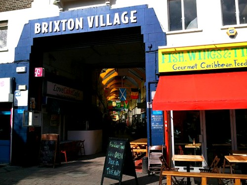 Entrance to Brixton Village in London