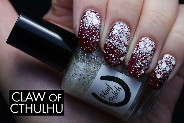 Hoof Polish Just One More Time Swatch (gradient with OPI Skyfall)
