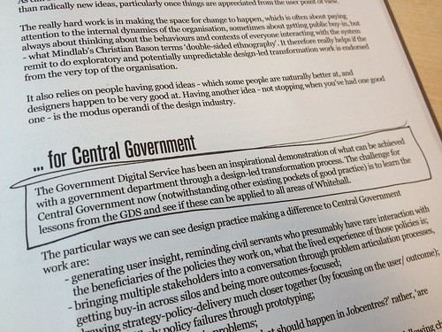 """The challenge for Central Government now... is to learn the lessons from the GDS and see if these can be applied to all areas of Whitehall."""