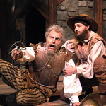 Arvada Center Man of La Mancha L-R William Michals (Don Quixote) Ben Dicke (Sancho Panza) Photo P. Switzer 2013 -