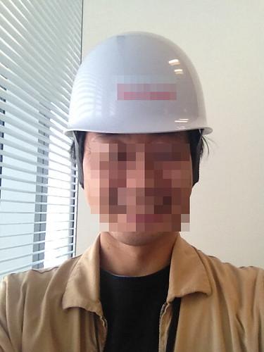 防災用のヘルメットが配布されました!
