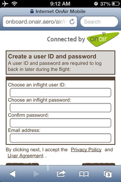 Wifi on Emirates