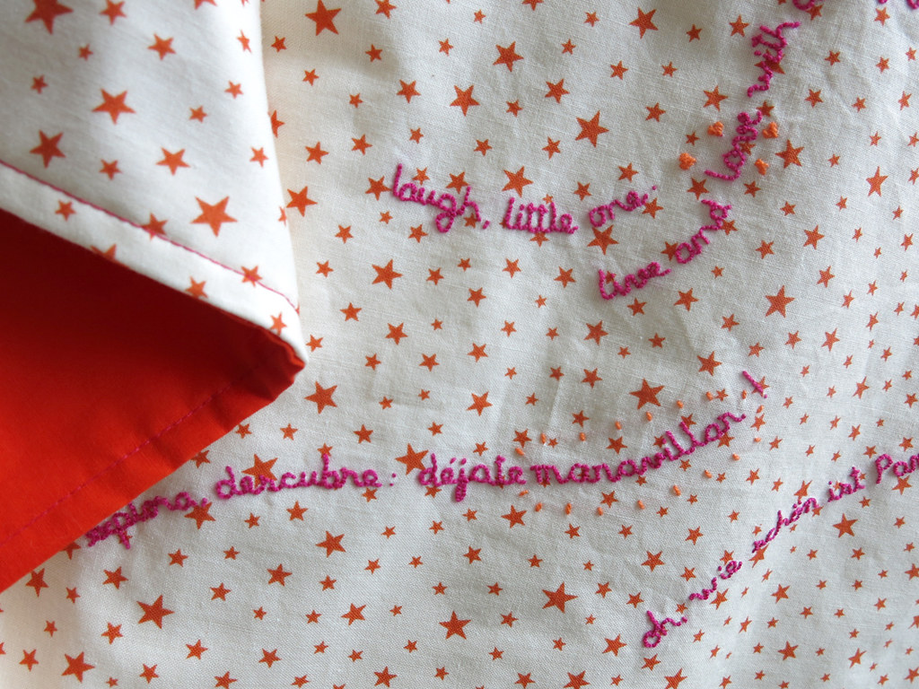 Baby R.'s abbrigate* blanket