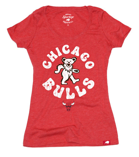 Women's Chicago Bulls Grateful Dead Shirt