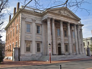 Image of First Bank of the United States. philadelphia pennsylvania bank nationalhistoricalpark greekrevival 1790s samuelblodgett