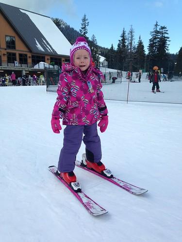 Elaine does not like skiing yet