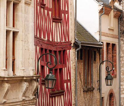 Imagen de casas medievales de Orleans (Francia)