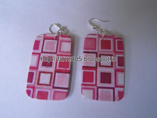 Handmade Jewelry - Card Paper Earrings (25) by fah2305