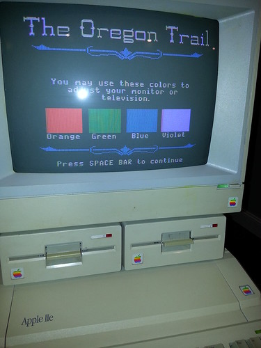 A nice way to calibrate the colors on an Apple II.
